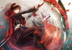 Rating: Safe Score: 187 Tags: boots brown_hair cape cross oki_(koi0koi) pantyhose red_eyes ruby_rose rwby scythe short_hair skirt weapon User: FormX