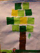 Blokjes herfstboom