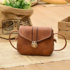 Cool! Fashion Mini Black Brown Button Women Messenger Bag Shoulder Bags just $29.99 from ByGoods.com! I can't wait to get it!