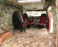 My Father NEVER let my sister date a guy that drove a van. Customised Vans, Custom Vans, Custom Van Interior, Men's Vans, Chevy Vans, Dragon Wagon, Gmc Safari, Old School Vans, Dodge Van