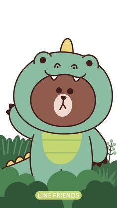Lines Wallpaper, Bear Wallpaper, Line Brown Bear, Melody Hello Kitty, Friends Wallpaper, Bear Cartoon, Line Friends, Cute Chibi, Tecno