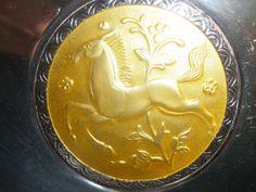 Rare 830s Silver Enamel Dish Norwegian Norway Ottar Hval art deco enamel horse