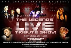 """AMA Entertainment proudly presents The Legends Live Tribute Show delivering non-stop excitement! Tributes include Michael Jackson, The Rat Pack, Whitney Houston, Celia Cruz, and Dinah Washington in a show that is part theatrical """"performance art"""" and part jukebox musical concert. Visit www.xplorela.com"""