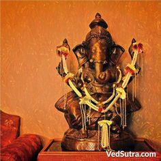 Lord Ganesh Images- Ganesh Murti at home