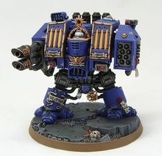 I haven't forgotten this one. Finally proper pictures of my Ultramarines Venerable Dreadnought. The Venerable Dreadnought is a very w...