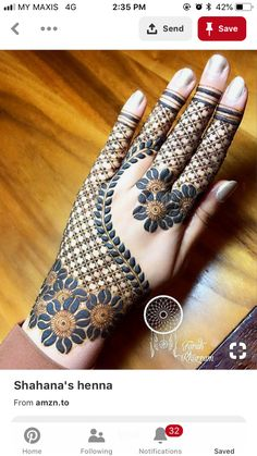 Flower Glitters Mehndi Design Mehndi henna designs are always searchable by Pakistani women and girls. Women, girls and also kids apply henna on their hands, feet and also on neck to look more gorgeous and traditional. Finger Henna Designs, Mehndi Designs 2018, Mehndi Designs For Girls, Mehndi Designs For Beginners, Dulhan Mehndi Designs, Wedding Mehndi Designs, Unique Mehndi Designs, Mehndi Designs For Fingers, Beautiful Mehndi Design