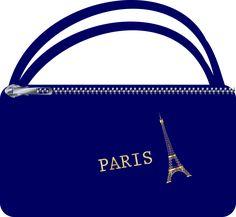 ffcb09c50c Takto nejako vyzerala moja taška Paris. Eiffelovka bola vyšitá zlatou  niťou