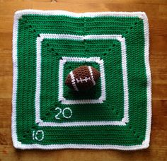 Boy's Crochet Baby or Toddler Football by BellaBeansCrochet