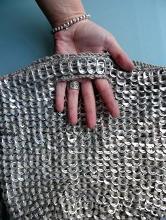 omⒶ KOPPA: Recycled can pull tabs bag
