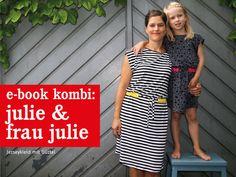 :::::::::::::::::::::::::::::::::::::: JULIE & FrauJULIE - Jerseykleid mit Gürtel im Partnerlook Schnittmuster und Fotonähanleitung für Kinder &...