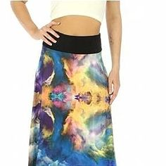 Women's Wide Waistband Skirt Blue by The RedDame Fashion Store on Opensky