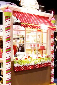 Adorable Candy Shop Styled Booth - I'm seeing this as a decorated door or classroom bulletin board!