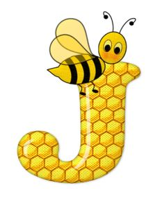 Alphabet letters bee on honeycomb. Alphabet Design, Alphabet Art, Alphabet And Numbers, Letter Art, Bee Pictures, Scrapbook Letters, Buzzy Bee, Cartoon Clip, Bee Party