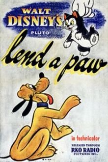 """Lend a Paw"" Pluto Disney Cartoon short movie poster"