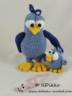 Amigurumi Crochet Pattern Burton and Bertie the Birds by IlDikko