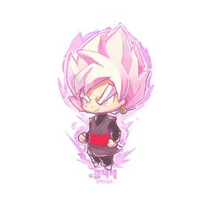 Super Saiyan Rose Black Goku by Jr Pencil Chibi Goku, Anime Chibi, Kawaii Chibi, Cute Chibi, Anime Art, Manga Anime, Black Goku, Dragon Ball Z, Couple Manga