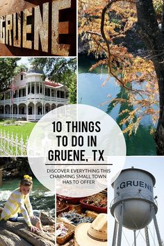 """Gruene (pronounced """"green"""") is a charming vacation spot and home to the country's oldest dance hall. Here are 10 things to do in Gruene TX this weekend. Travel Jobs, Ways To Travel, Texas Travel, Travel Usa, Texas Tourism, Canada Travel, Texas Roadtrip, European City Breaks, Vacation Spots"""