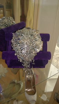 Broach Bouquet made from genuine vintage pieces!