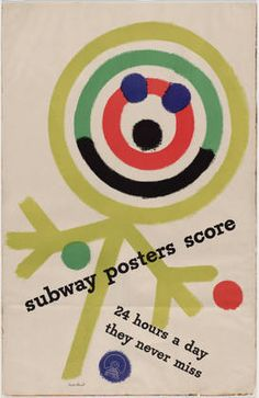 Paul Rand. Subway Posters Score. 1947