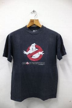 Vintage 1984 Ghostbusters Cartoon Movies Ghost Catcher Paranormal Tee T Shirt by SellVintageClothings on Etsy