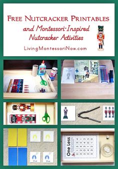Lots of free Nutcracker printables and Montessori-inspired Nutcracker activities for multiple ages; perfect for classroom or homeschool - Living Montessori Now Preschool Christmas, Kids Christmas, Christmas Crafts, Christmas 2016, Nutcracker Crafts, Nutcracker Christmas, Montessori Activities, Activities For Kids, Crafts For Kids