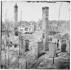 [Richmond, Va. Chimneys standing in the burned district]