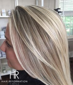 Blonde hair dimensional dimension highlights lowlights straight sleek seamless lived in hair haircut Spring Summer hair inspiration inspo pretty healthy natural looking ash beige light cool toned tones Blake Lively inspired celeb celebrity NYC Buffalo New York East Amherst Balayage Hair Reformation salon