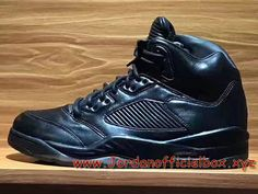 on sale cb6e3 4c78c Air Jordan 5 Premium ´Triple Black´ Homme Nike JOrdan release Pour  Chaussures noires-