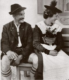 Austria -- traditional costumes. each region has its own variation on the exact style