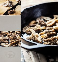 Morel Mushroom Recipes!!  ::  Little Rusted Ladle » Blog :: Jena Carlin Photography and Set Styling :: Jim Rude Food Styling and Recipe Development.  #Morel #Mushrooms #Photography #Food #Recipes #Burgers #Pizza #Bread #Eggs