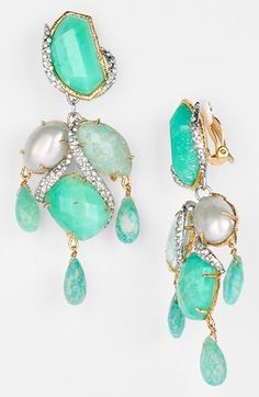 Alexis Bittar 'Elements - Maldivian' Chandelier Clip Earrings