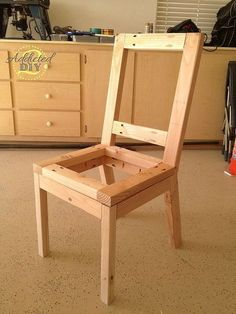 diy upholstered dining chairs, painted furniture, reupholster, woodworking projects, I built the chairs using 2x2s and 2x3s with plywood seats and backs The plans are modified from the Parson Chair plans on ana white com