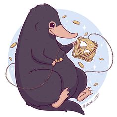 """Polubienia: 5,669, komentarze: 36 – Naomi Lord (@naomi_lord) na Instagramie: """"Just a time traveling Niffler, hold onto all your shiny things! ✨ This will be available as an…"""""""