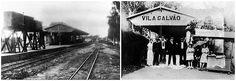 Duas cenas da extinta estação de Guarulhos