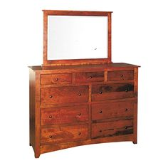Economy Shaker 9 Drawer Dresser from Dressers & Chests category is hand made by finest amish craftsmen specialized in mission and solid wood furniture Pine Dresser, Large Dresser, 9 Drawer Dresser, Bedroom Dressers, Dovetail Drawers, Solid Wood Furniture, Amish, Wood Species, Craftsman