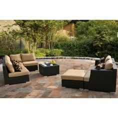 Niko 8 Piece Modular Seating Set Outdoor Living