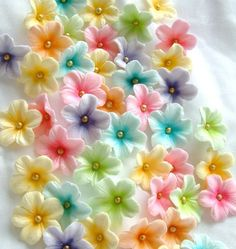 decorating paste flowers with luster dust | Pastel Colored Gum Paste Blossoms - Cake Decorating Community - Cakes ...