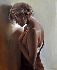 160 Masterpieces For Artist Emilia Wilk (Polish artist) - Art And Beauty Anna Razumovskaya, She's A Lady, Z Arts, Women Figure, Love Painting, Artist Art, His Eyes, Female Art, Rose