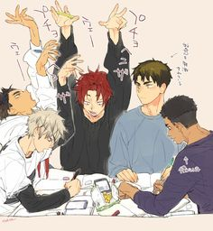 feel tired, it start. Me Anime, Girls Anime, Anime Angel, Manga Anime, Anime Art, Haikyuu Funny, Haikyuu Fanart, Haikyuu Yaoi, Haikyuu Ships