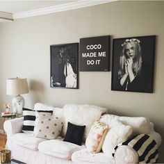 In love with this stylized black and white living room designed by @christinaadamo.