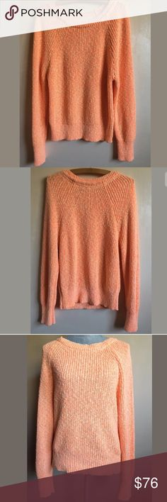 """Free People Electric City Pullover Knit Sweater NWT Free People Electric City Pullover Knit Sweater Tangerine Size Large Condition: New with Tags! Size: Large Measurements: Armpit to armpit: 19"""" Length: 24"""" Please follow me and check out other items in my store! Thank you for shopping! Free People Sweaters"""