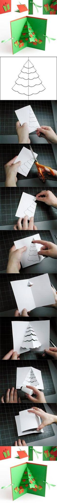 DIY : Christmas Tree Pop Up Card