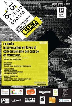 I BIENAL INTERNACIONAL DE PERFORMANCE DE CARACAS.  Día: Miércoles 16 (este miércoles) Lugar: Centro de Arte el Hatillo. Hora: 6pm