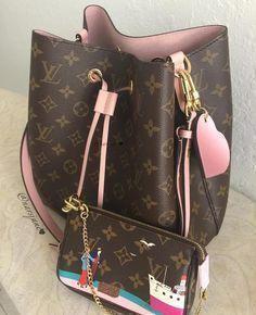 ed40ad3e4f62 Louis Vuitton with pastel pink  Luxurydotcom  Louisvuittonhandbags Bolsas  Michael Kors