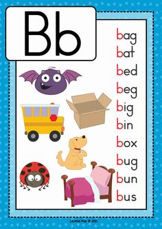 FREE Phonics Letter of the week B. Beginning b cvc words