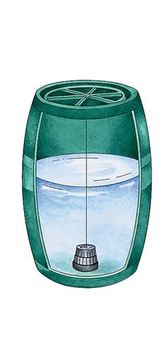Keep Your Collected Rainwater Clean and Clear    Most of the time, your rain barrel will store rainwater with no bother. But if you occasionally notice algae buildup or odor, use this potent system to clear water up fast. You get a refillable dispenser with two 30-day sachets of beneficial bacteria and water-cleansing enzymes — the same ones we use to clean ponds, but extra strength for enclosed barrels.