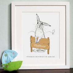 Personalised Rabbit Illustration