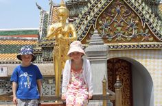 Surviving the heat and squishing into Tuk Tuks in Bangkok...with the kids.