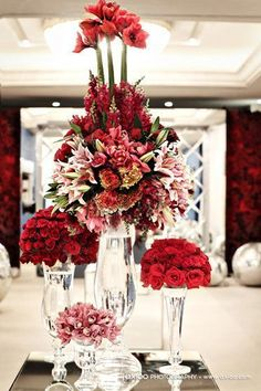 Simply beyond beautiful. Love the lushness.  Love the high low.  Love the RED!