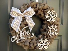 Christmas wreath rustic christmas wreath by TheClassyGoose on Etsy